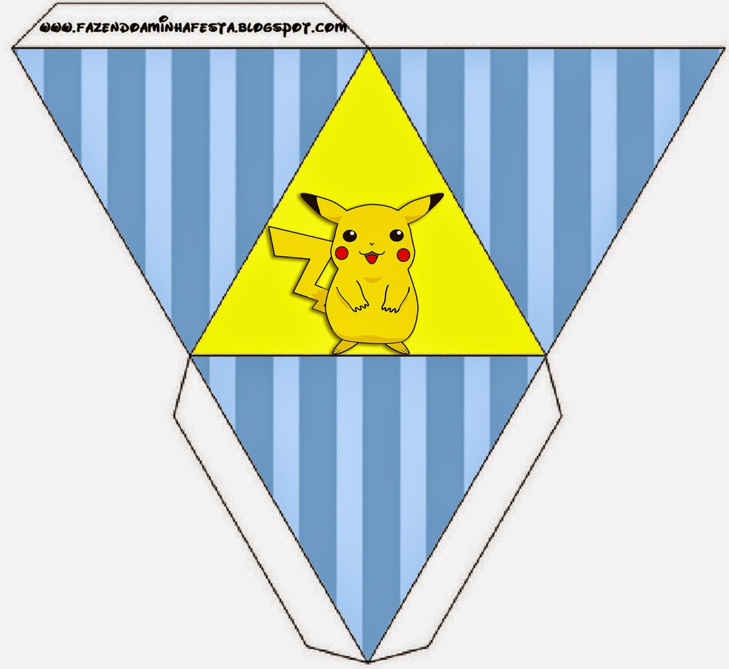 Free Printable Pyramid Box.
