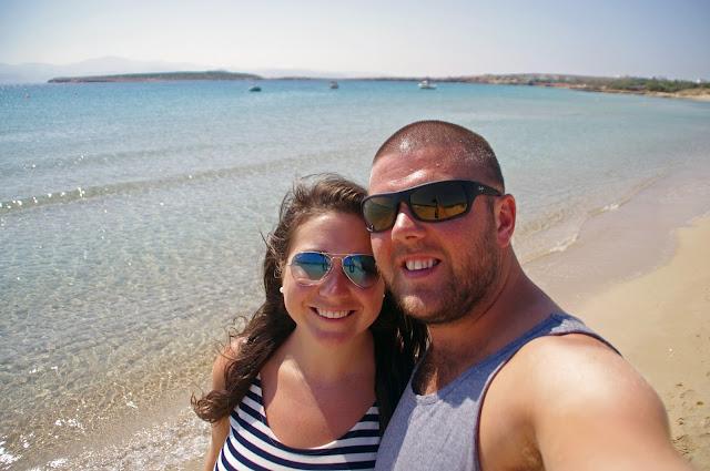 Couple on Paros beach