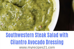 Southwestern Steak Salad with Cilantro Avocado Dressing