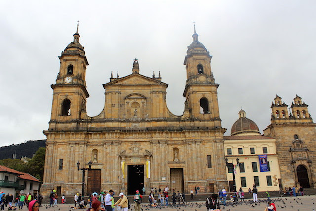 Bogota Cathedral in Bolivar square