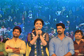 Actress Keerthi Suresh Stills in Blue Long Dress at Nenu Local Audio Launch  0061.JPG