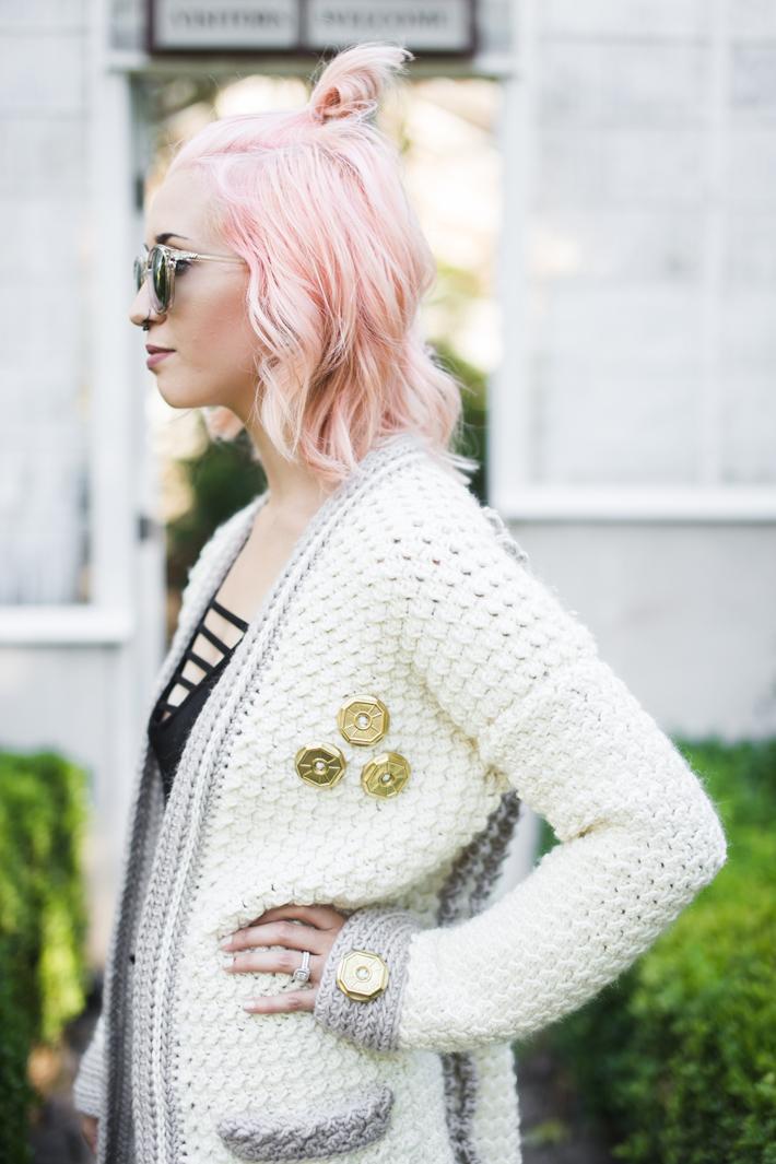Evangeline Cardigan Free Crochet Along by @thehooknook