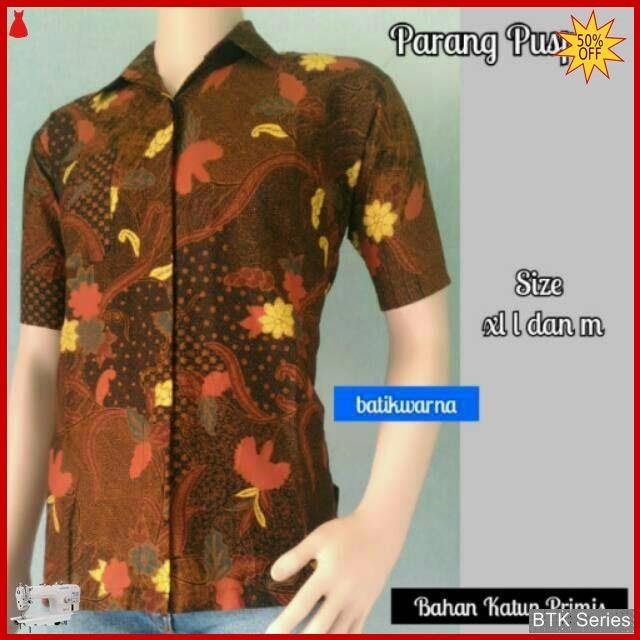 BTK096 Baju Ecer Hem Batik Parang Puspo Murah BMGShop