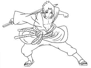 Sketsa Mewarnai Gambar Kartun Naruto 20169