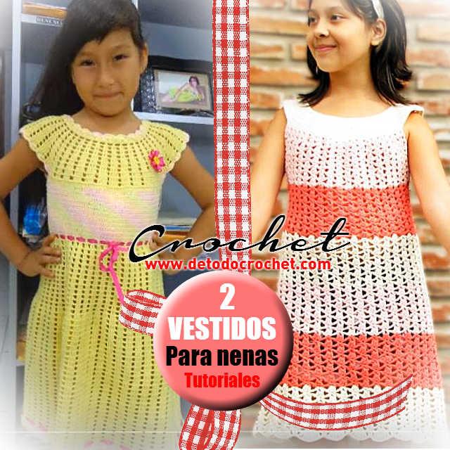 como tejer vestido crochet para nena