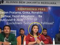 Terungkap! Sosok Perempuan 'Aliansi BEM Jakarta Bersuara' yang kritik Anies ternyata Pernah Sepanggung dengan Ngabalin
