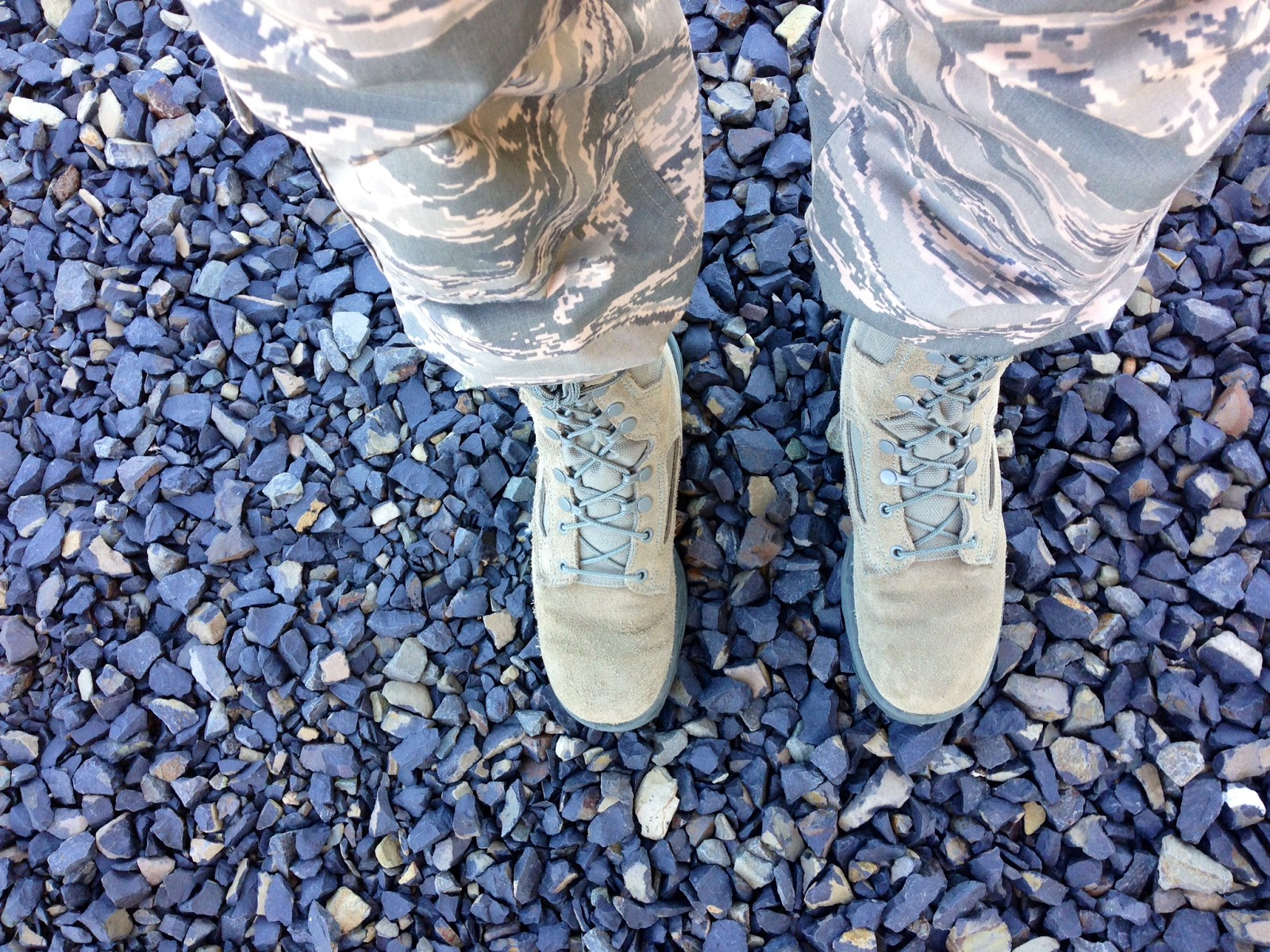Military Acronyms on Aunie Sauce, ABU boots and pants