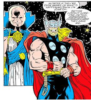 Thor y El Vigilante observan