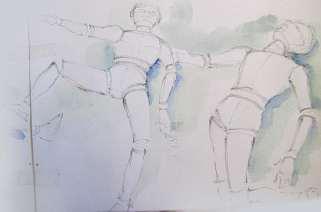 Gesture-Drawing-Watercolor-Sketchbook-Page
