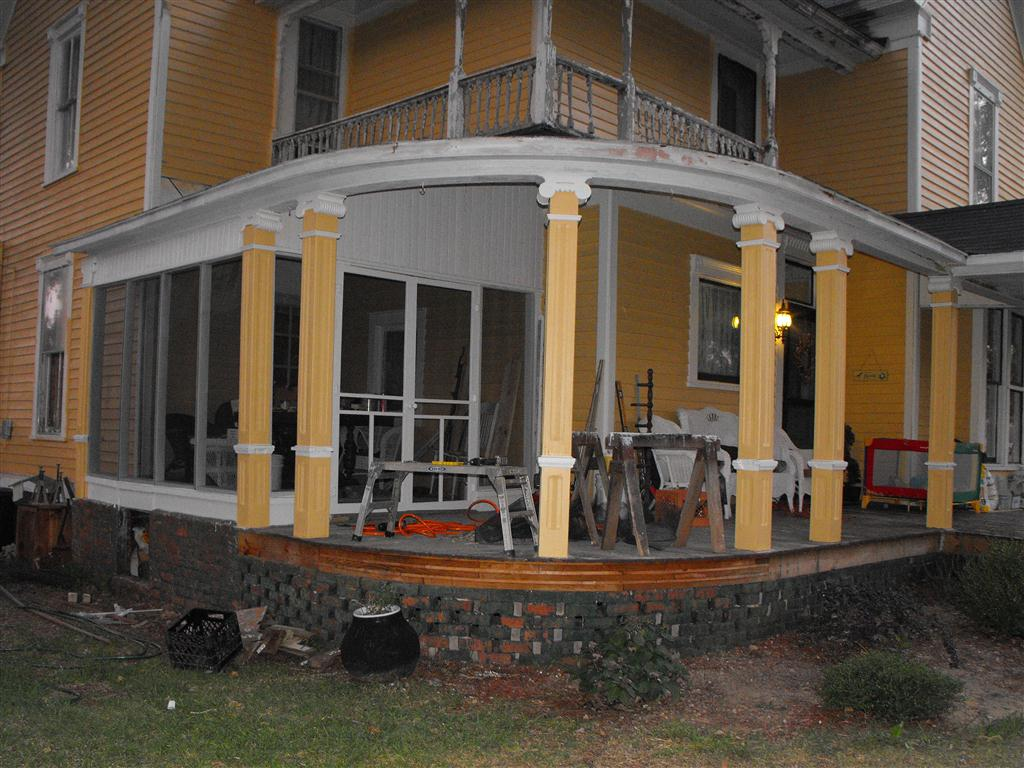 Aycock Morgan House Installing Drip Edge On Porch Roof