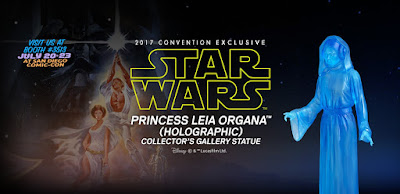 San Diego Comic-Con 2017 Exclusive Star Wars Holographic Princess Leia Collector's Gallery Statue by Gentle Giant