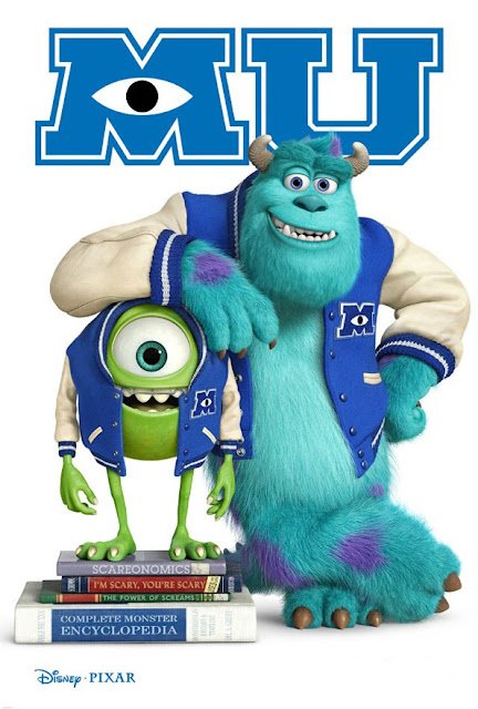 Cartel película de Pixar Animation Studios Monster University