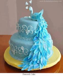 peocock cake