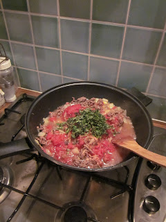 mince cooking in a wok