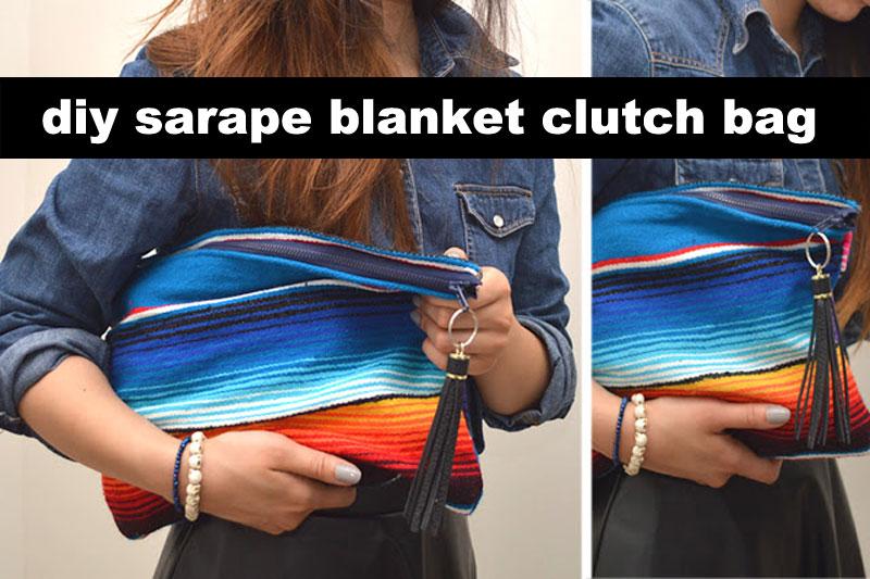 DIY sarape blanket clutch bag | - Trashion Helsinki