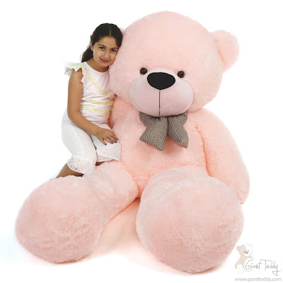 6ft Pink Teddy Bear Lady Cuddles from GiantTeddy