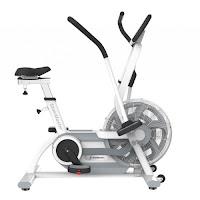StairMaster AirFit Exercise Bike, white,  commercial-grade air/fan exercise bike