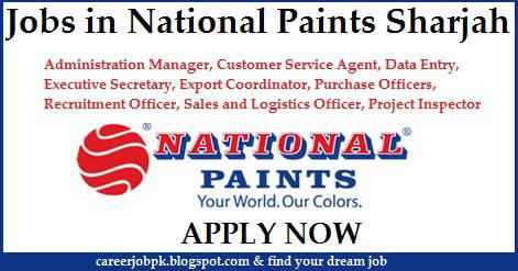 National Paints job vacancy in Sharjah