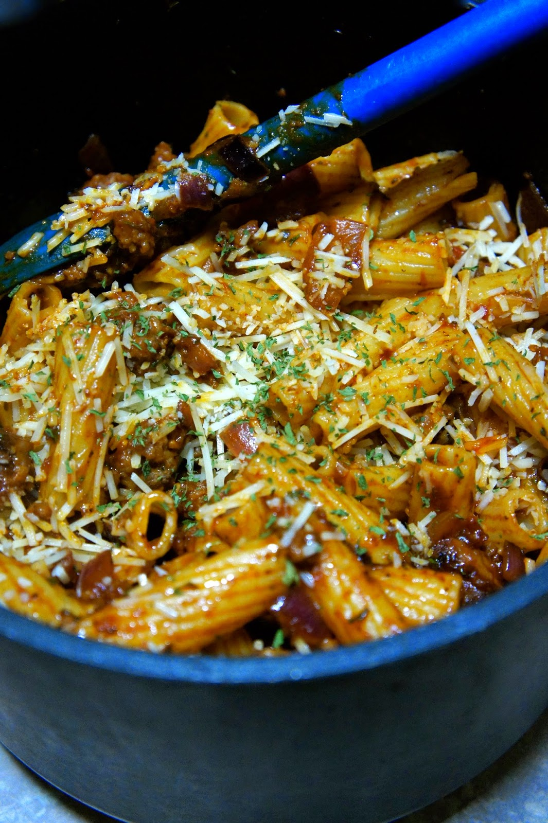 Sausage and Tomato Rigatoni: Savory Sweet and Satisfying