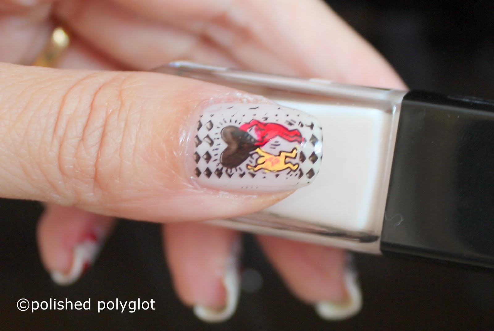 Nail Art Pop Art Nail Design Using Born Pretty Store Stamping