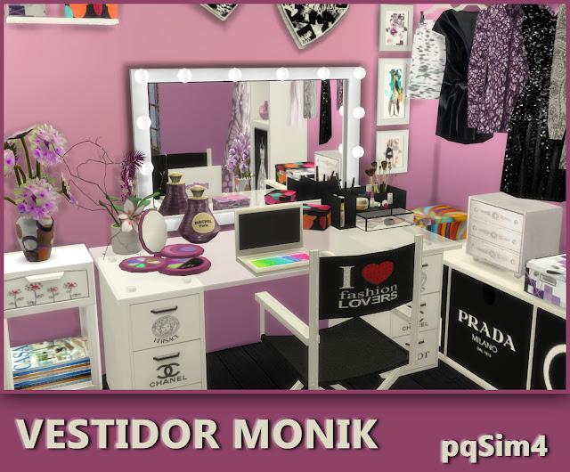 Vestidor Monik. Sims 4 CC.