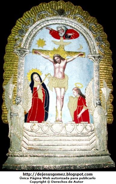 Foto al Señor de los Milagros con fondo negro de Jesus Gómez