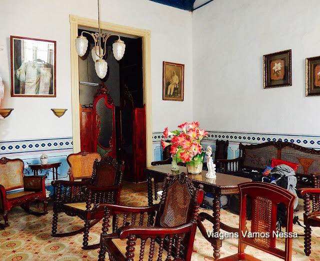 Mobiliário da sala de estar da Casa Balbina