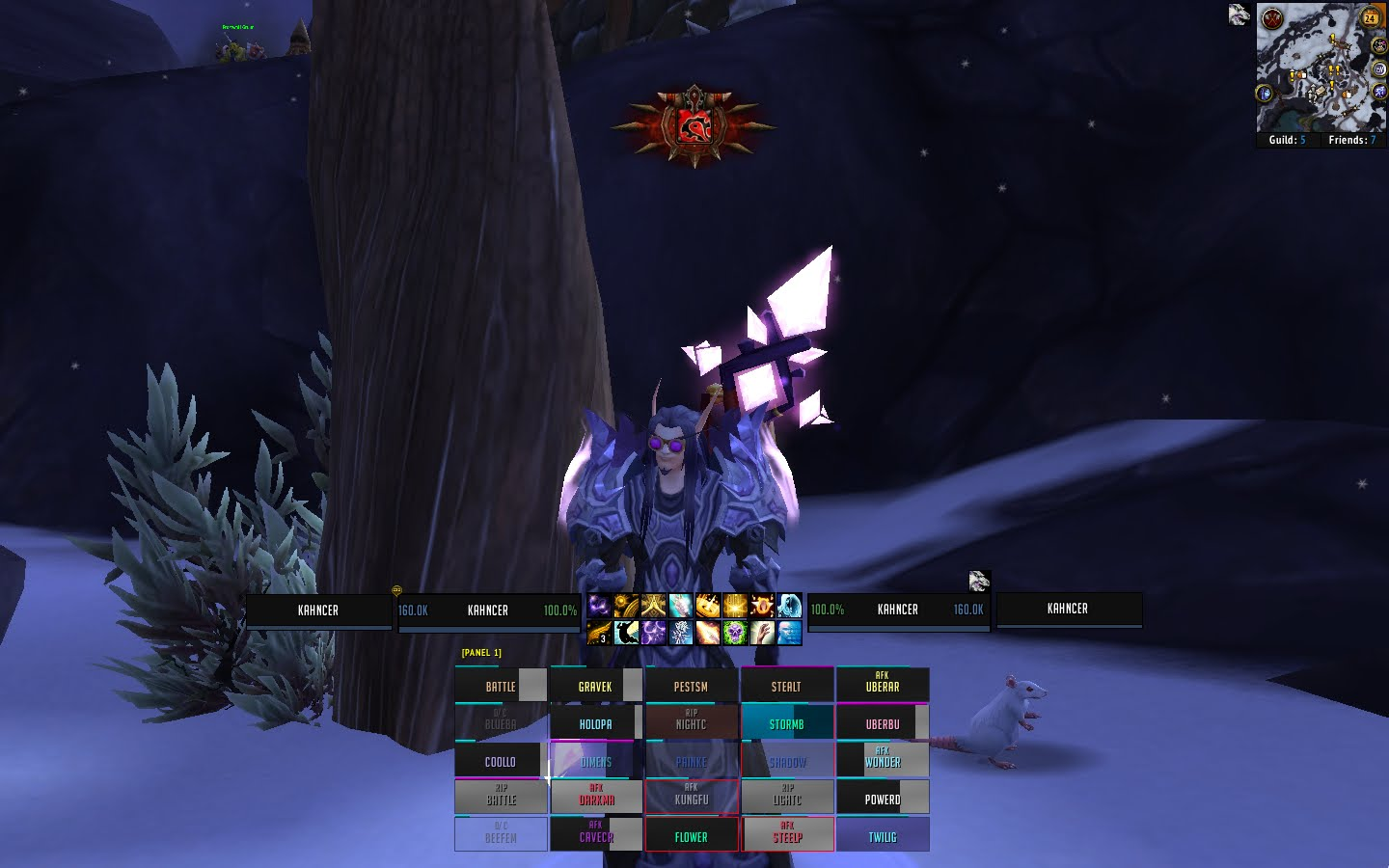awesome pictures: Kahn's ELVui Priest Setup