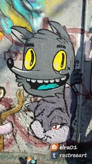 arte urbano de chicle