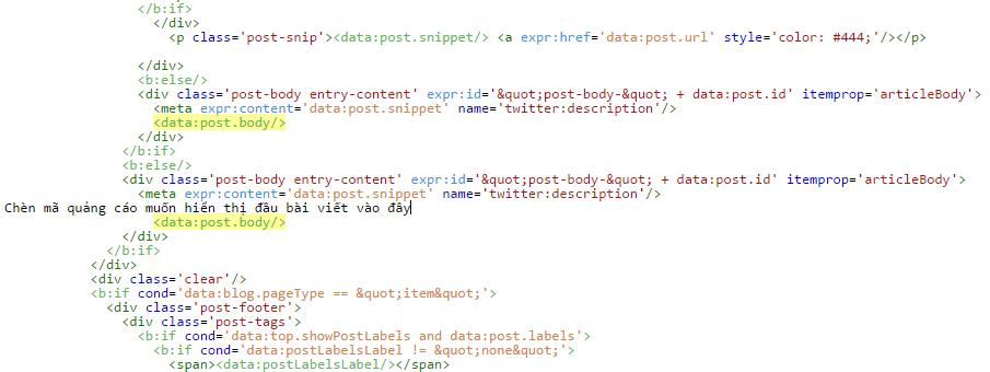 Hướng dẫn đặt quảng cáo google adsense cố định vào trong nội dung bài viết blogspot