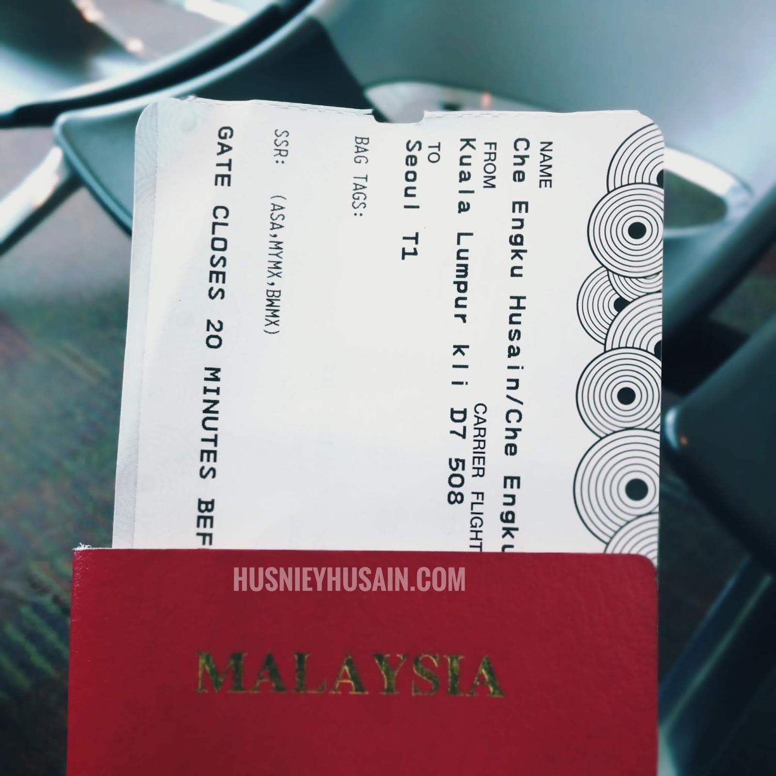 Travel Ke Korea Selatan Berikut Tentang Tiket Penerbangan Pergi Balik Husniey Husain