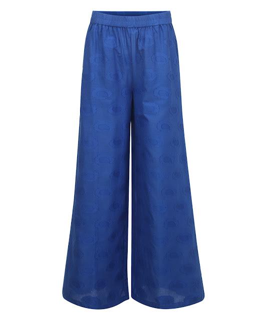 Yepme Emma Palazzo Pants - Blue- INR 699