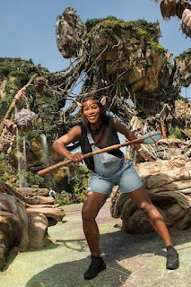Photo: Serena Williams sneak peek of Disney's new attraction: Pandora - The World Of Avatar