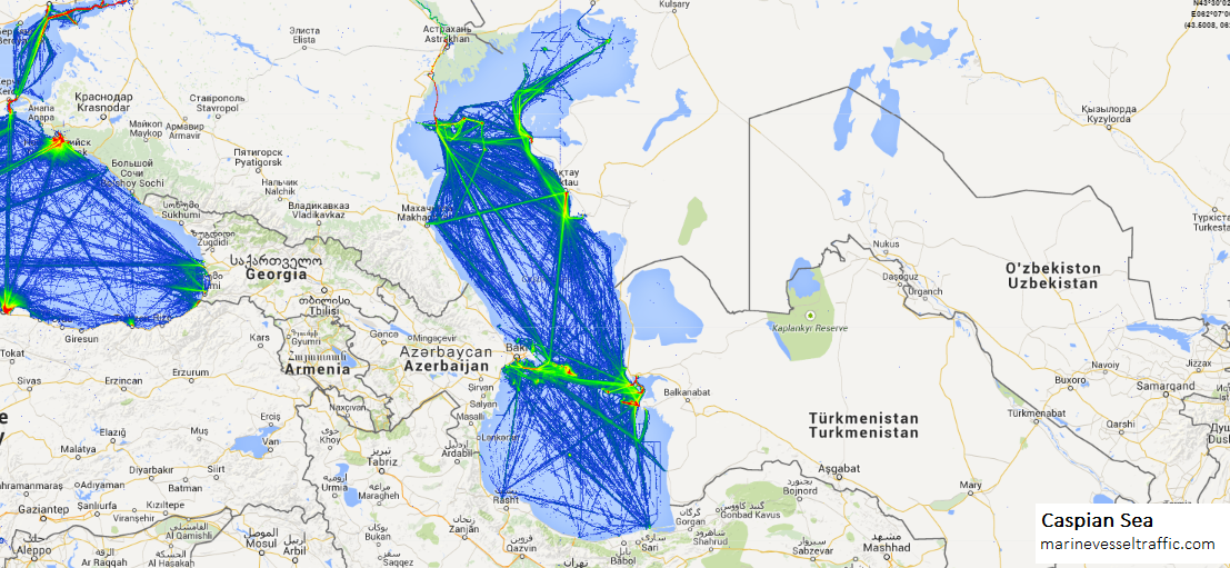 CASPIAN SEA SHIP TRAFFIC | Ship Traffic