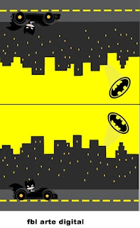 Batman in Black and Yellow, Free Printable Labels.