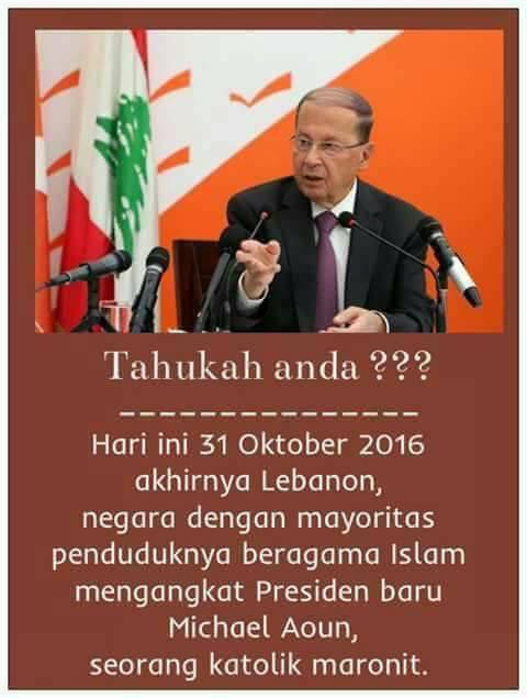 Lebanon, Negara Mayoritas Muslim Punya Presiden Katolik
