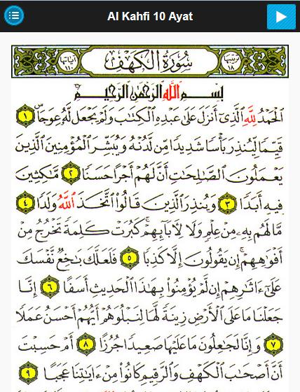 Surat Al Kahfi Ayat 1 10 Tafsir Bacaan Dan Terjemahan