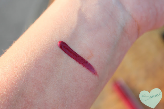 HIKARI COSMETICS | Lip Gloss in Merlot swatch - Ipsy Glam Bag: August 2015 Review & Unboxing | Sammi the Beauty Buff