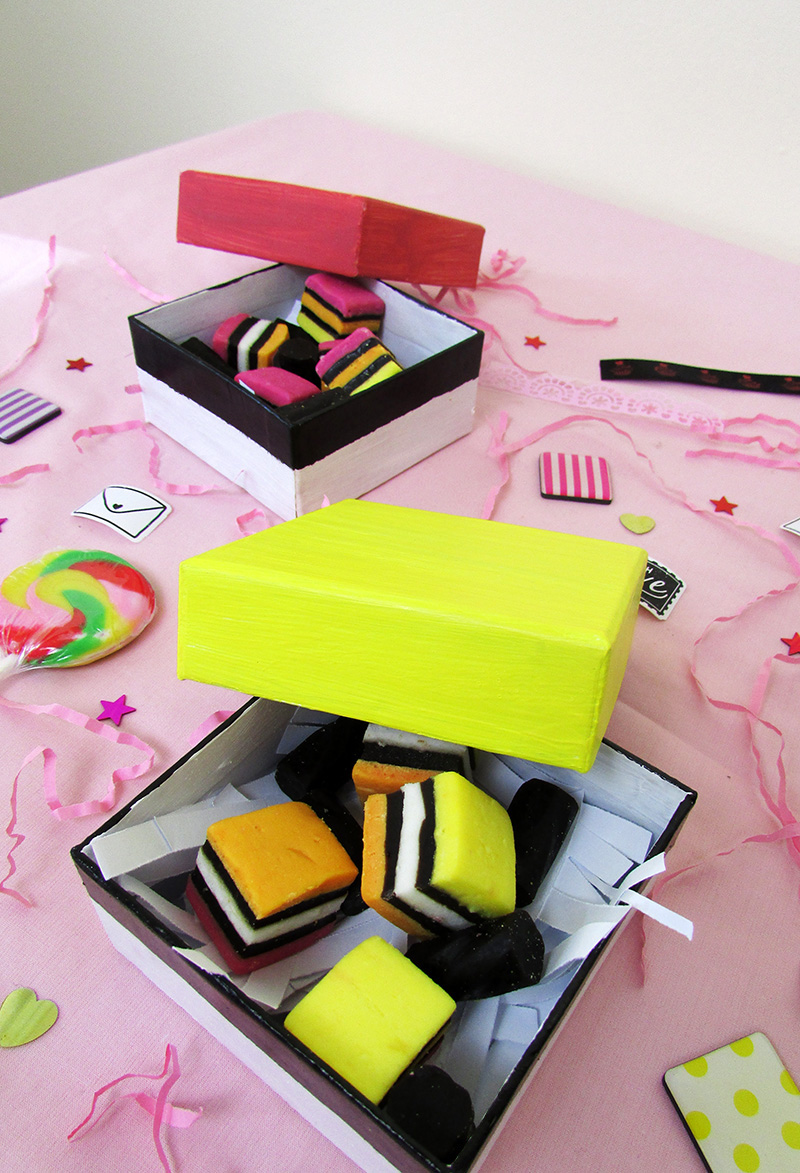 DIY Licorice Allsorts Gift Boxes for National Licorice Day