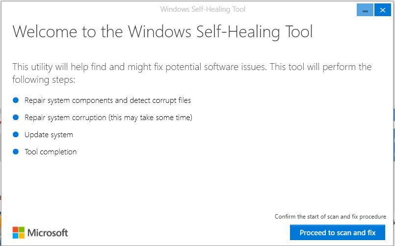 Strumento Microsoft per la risoluzione dei problemi post-Anniversary Update 2