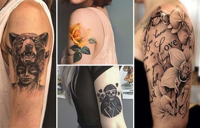 kadın üst kol dövme modelleri woman upper arm tattoo designs