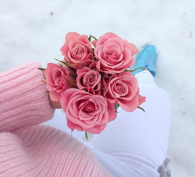 pink sweater - różowy wiązany sweterek SAMMYDRESS