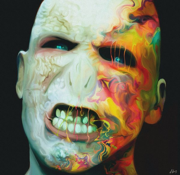 10-Lord-Voldemort-Ralph-Fiennes-Harry-Potter-Nicky-Barkla-Psychedelic-Celebrity-Portrait-Paintings-www-designstack-co