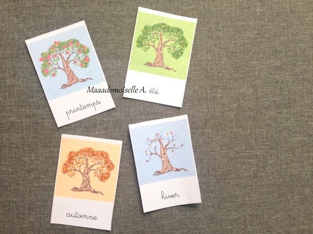 || Cartes de nomenclature à télécharger gratuitement ; Les quatre saisons