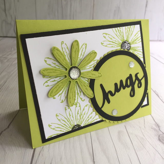 Also using Daisy Delight flower stamp set and coordinating Daisy Punch