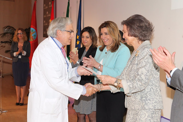 Queen Sofia of Spain attends the ceremony to mark the 40th anniversary of the Reina Sofia University Hospital