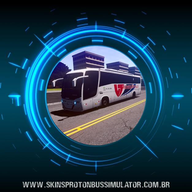 Skin Proton Bus Simulator Road - New Vissta Buss 360 MB O-500RS BT5 Viação Teresópolis