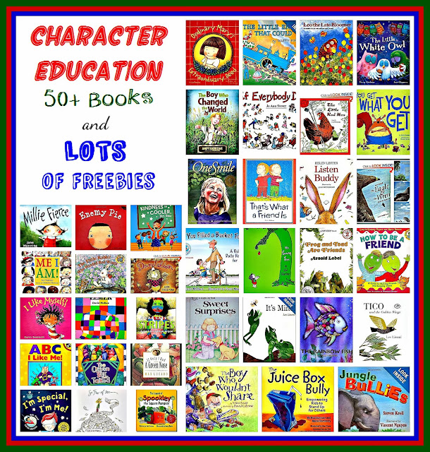 "Character Education 50+ Books and FREEBIES @ ""PreK+K Sharing"""
