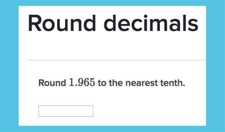 Rounding decimals activity