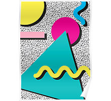 80s Abstract Pattern Poster